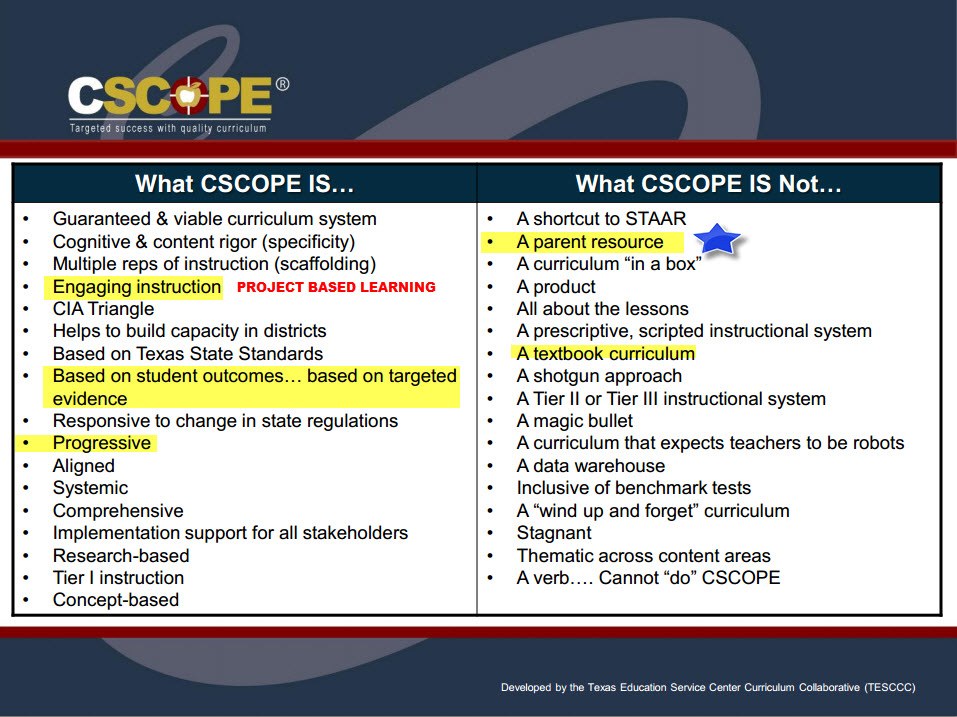 WHAT CSCOPE IS AND NOT