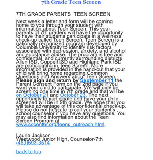 teen screen.